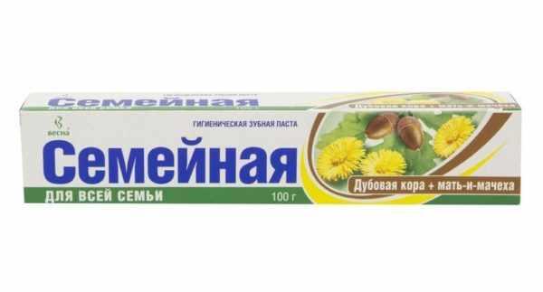 Зубная паста с корой дуба
