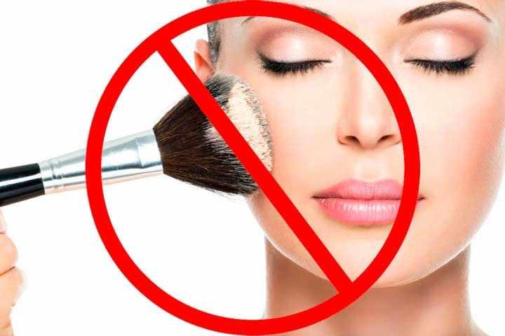 Запрет макияжа