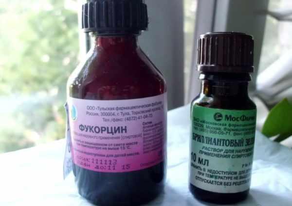 Фукорцин и зеленка