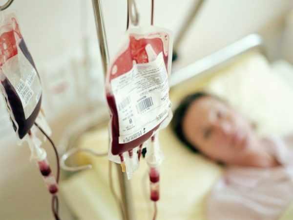 Заражение во время переливания крови